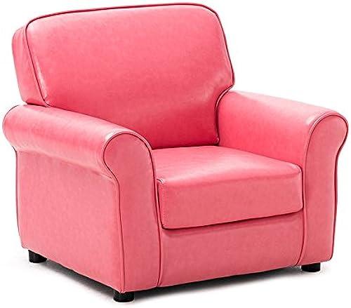 Stühle FEI Bequem Kindersofa Baby Sofa Candy Farbe Mini Sofa niedlichen Sitz MultiFarbe optional Stark und langlebig (Farbe   Rosa (PU))