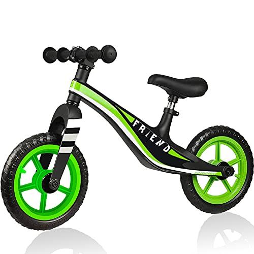 YOUQIQU Balance Bike, Kids Balance Bike for 2 3 4 5 6 Year Old Boys and Girls, 12  Toddler Baby Balance Bike High-end Magnesium Alloy Frame, EVA Foam Or Air Rubber Tires(Blue, Black, White)
