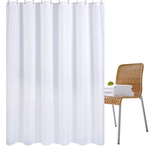 Wimaha - Cortina de Ducha, Resistente al Moho, Forro de Cortina para baño, Lavable a máquina, 180 x 180 cm, 100% poliéster (Blanco)