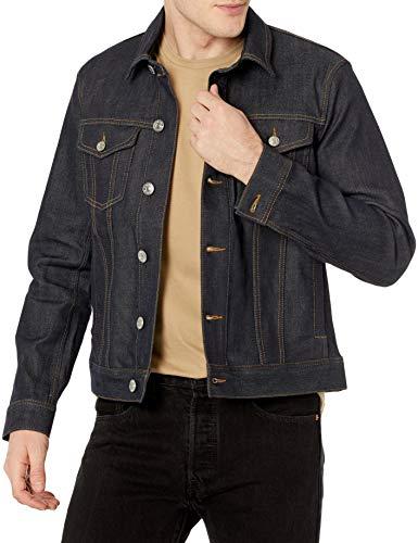 Armani Exchange ALLOVER Denim Jacket Chaqueta, Indigo azul vaquero, S para Hombre