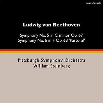 Ludwig van Beethoven: Symphony No. 5 in C-Minor, Op. 67 & Symphony No. 6 in F, Op. 68 'Pastoral'