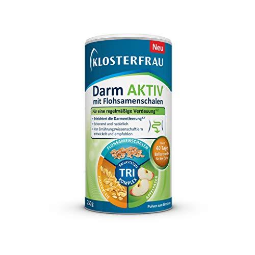 Klosterfrau Darm Aktiv mit Flohsamenschalen für eine regelmäßige Verdauung | Vegan | Laktosefrei | Packungsgröße 250 g