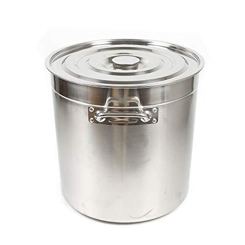 OUKANING Pentole per zuppa, 35 l, diametro 360 mm, in acciaio inox, grande pentola a induzione, a gas, elettrico, in vetroceramica, ideale ad esempio come pentola