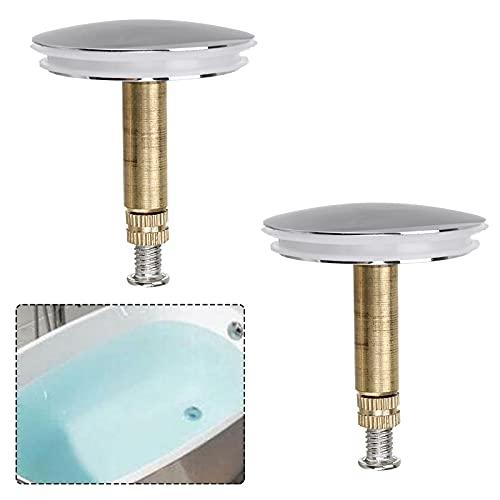 ConBlom 2 Tappo Vasca da Bagno, con Doppia Guarnizione, Regolabile in Altezza, Tappo per Tutte Le vasche da Bagno Standard in Ottone temprato con Finitura cromata (⌀ 43 mm)