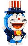 Doraemon Robot Gato 3D DIY Mini Diamond Blocks Bricks Building Juguete para Niños Regalo (Mago),B
