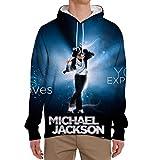 Michael Jackson Pullover Sudaderas para Hombre Sudaderas generosas y digna con Capucha Abrigos al Aire Libre de Manga Larga Jersey Moda Temperamento Outwear Outwear Unisex (Color : A02, Size : XL)