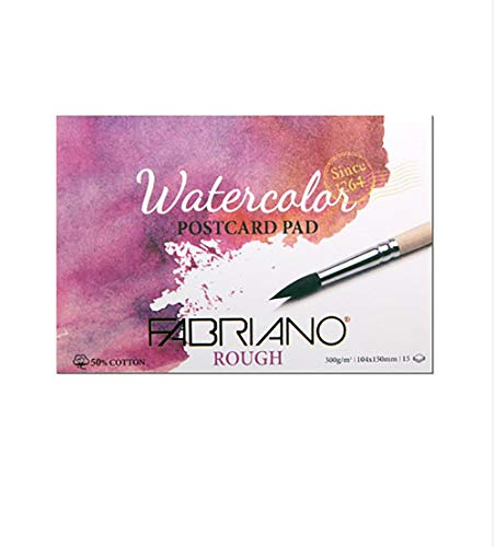 FABRIANO Watercolor Postcard Pad 300g A6 15sheets (Rough)