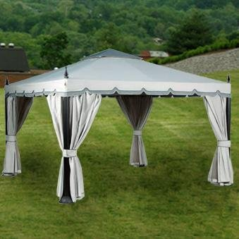 Garden Winds 12 x 12 Scalloped Gazebo Replacement Canopy Top Cover RipLock 350