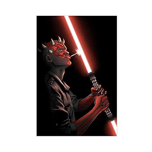 Star Wars Darth Maul Leinwand-Poster, Wandkunst, Deko, Bild, Gemälde für Wohnzimmer, Schlafzimmer, Dekoration, ungerahmt: 50 x 75 cm
