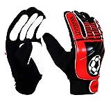 ARSUK Torwarthandschuhe Kinder & Jugendliche, Fußball-Handschuhe, mit Fingersave,Rutschfes, Gewährung von Starken Schutz für Finger Unisex Kinder (Handschuhe Liverpool)