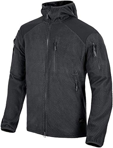 Helikon-Tex Alpha Hoodie Jacket leichte Fleece-Jacke Outdoor Survival - Black