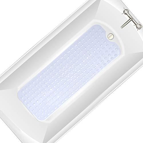 Badewannenmatte 100 x 40cm, Antirutschmatte Badewanne mit Saugnapf, Extra Lang PVC Antibakterielle Badematte Rutschfeste, Maschinenwaschbar Duschmatte, Rutschfesten Badematten, Badenwannen Rutschmatte