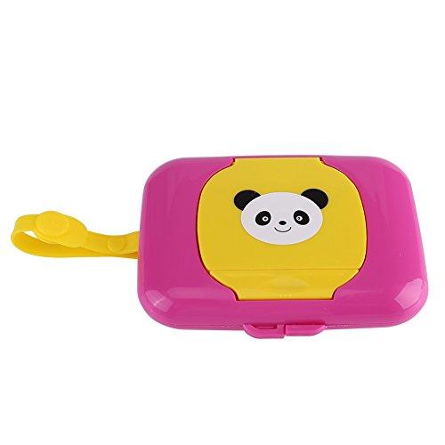 Baby Outdoor Draagbare Natte Tissue Dispenser Case Baby Herbruikbare wandelwagen Pram Natte doekjes Doos Handige Tissue Case voor Reizen Rose + Yellow