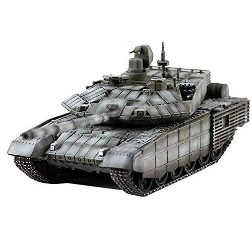CMO Maqueta Tanque de Guerra, T-90 Tanques de Batalla Principales Ejército Ruso el Plastico Militares Escala 1/72, Juguetes y Regalos, 5,2 X 3,7 Pulgadas