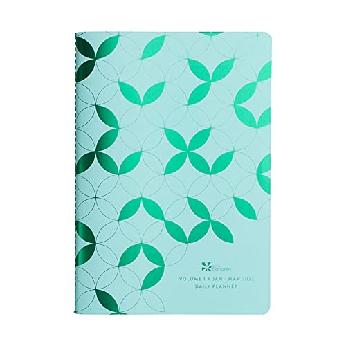 Three Month Daily Planner ( January 2022 - March 2022 ). Daily Planning Pages, Monthly Calendar Spreads and Stickers. Portable Petite Planner by Erin Condren.