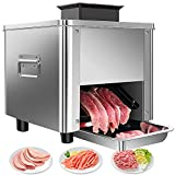 Commercial Meat Slicer (0.12'' Blade) Automatic Meat Cutter Machine for Home Use Auto Meat Cutting Machine Electric Deli Meat Slicer Bacon Slicer Jerky Slicers Meat Shaver Food Slicer Rebanadora
