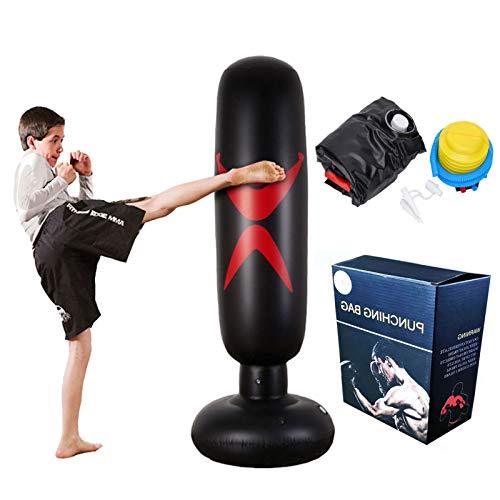K-Y Inversionsbank Freistehende Boxen Boxsack - Heavy Duty Target Stand Boxsäcke/ausgezeichnete Dummy für Boxen/Kick Boxing/Mixed Martial Arts/MMA Trainingsgeräte