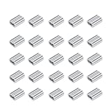 Concisea 100 piezas de mangas de aluminio de cuerda de alambre,clips de manga de bucle de engarce de...