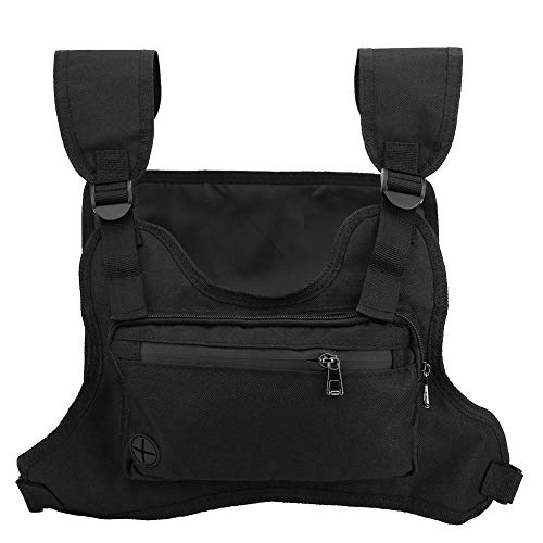 Running Backpack Vest, Outdoor Multifunction Cell Phone Leisure & Accessories Holder Tactics Sport Fitness Chest Vest Walking Bag Cycling(Noir)