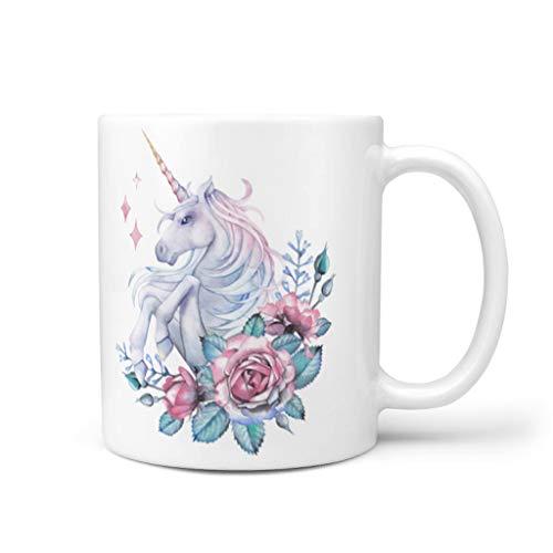 Bekend 11 oz. Eenhoorn Koffiebekers met Handvat Keramische Persoonlijke Mok - Vrouwen Geschenk, Pak voor Kinderen gebruik