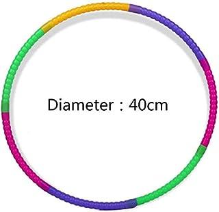 Scatto Insieme Staccabile Regolabile Peso Misura,Hula Hoop Professionale Bambini Colorati Plastica Giocattolo Hoola Cerchio QIANQI Hoola Hoops
