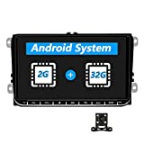 Car Stereo Car Radio Android 2G RAM+32G ROMIndash Head Unit for Volkswagen Jetta Passat Golf Touran Polo SEAT Skoda 9' Touch Screen with GPS Navigation WiFi Bluetooth FM USB+Backup Camera