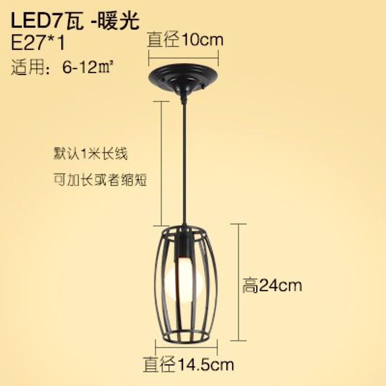 KANG@ Le restaurant est moderne et minimaliste de la personnalité créative bar lustres lampes en fer vent industrielle chef unique en forme de cylindre de lumière chaude