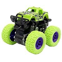 1PCSミニ四駆慣性回転可能な車のおもちゃ子供の摩擦パワーオフロード車のモデルカーのおもちゃ慣性のために子供の誕生日ギフト (色 : 2)