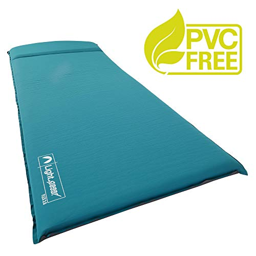 Lightspeed Outdoors XL Super Plush FlexForm Self-Inflating Sleep and Camp Pad, Teal