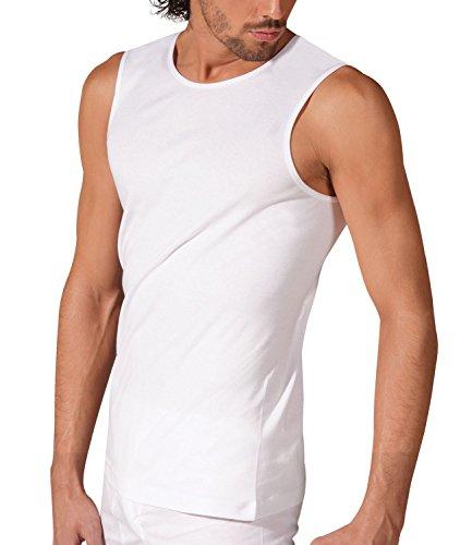 X-MAN Underwear Muscleshirt Rundhals Classic Männer T-Shirt Ärmellos ( 52/54 L, Weiß)