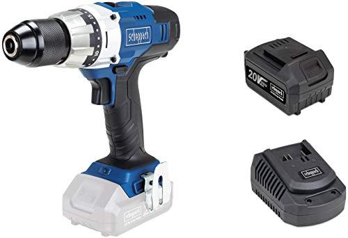 SCHEPPACH CDD45-20 | Akkuschrauber | 20 Volt | Bohrmaschine | 45 Nm Drehmoment | LED Arbeitslicht | Inkl. 4 Ah Akku und Ladegerät