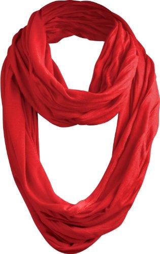 MasterDis Wrinkle Loop Scarf Sciarpa da uomo, Uomo Donna, 10054, rosso, Taglia unica