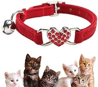 Härlig kattunge krage, kattkrage med klocka och elastisk rem