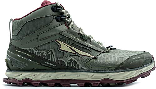 ALTRA Women's ALW1855H Lone Peak 4 Mid Mesh Trail Running Shoe, Olive/Dark Port - 10 M US