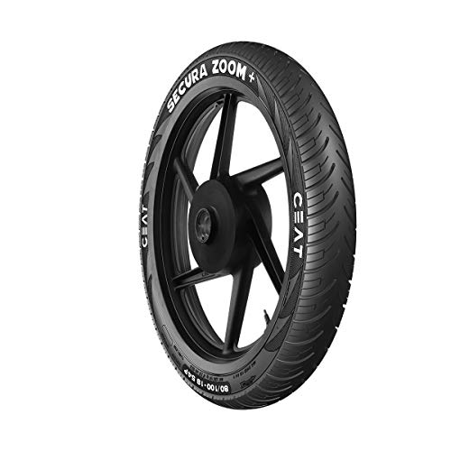 Ceat Secura Zoom Plus P80/100-18 Tubeless Bike Tyre, Rear