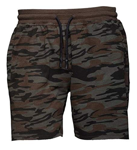 Brave Soul Herren-Short Sport-Shorts Kurze Hose Bermuda Sommer Camouflage Camo-Hose Crews (Camo Khaki Dunkel, L)