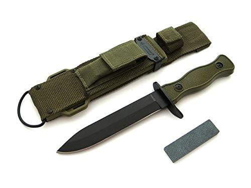 KOSxBO® Elite militaire survival outdoor mes - multipurpose mes met messenslijper - tactisch vechtmes - inzetmes 26,5 cm - Survival Rambo mes met schede