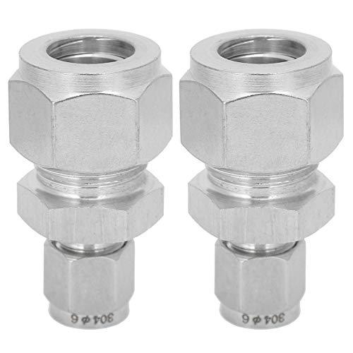 Adapter-Rohrverschraubung Doppelringverbinder Gerader Adapter Kompressions-Rohrverschraubung für Abgasanlage des Baubereichs für Industriebedarf(Ф6-Ф14)