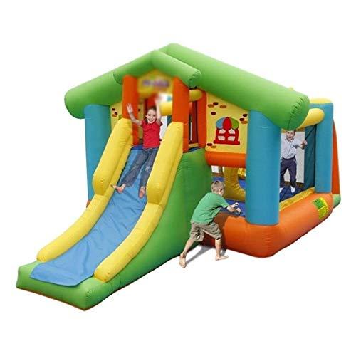 Lcxligang Al Aire Libre Grande Inflable de Diapositivas Poco Castillo de casa de la Despedida Mejor for los niños Edad 1 ~ 6, el tamaño Perfecto for Uso en Interiores o al Aire Libre