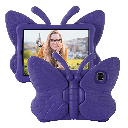 Tading iPad Pro 11 Kids Case, iPad Pro 11 inch 2020 & 2018 Case for Kids, Light Weight Shockproof EVA Foam Protective Tablet Cover Stand Case for iPad 11' 1st and 2nd Generation - Butterfly, Purple