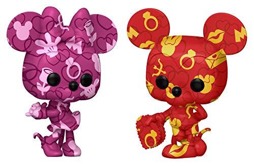 Funko 55669 ASST POP Artist Series DTV- 2PC Mickey and Minnie Bundle Amazon Exclusive