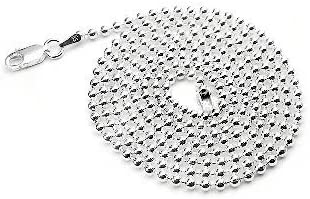 """Details about  /Large Sterling Silver Bead Necklace or Bracelet 14mm Beads 8/"""" 16/"""" 18/"""" 20/"""" Ball"""