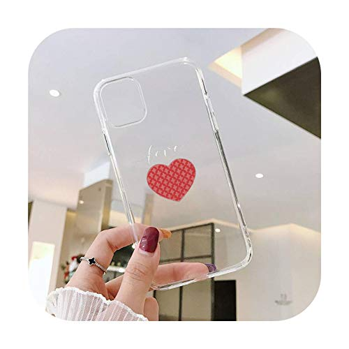 Lindo amor corazón amantes teléfono caso transparente suave para iphone 5 5s 5c se 6 6s 7 8 11 12 plus mini x xs xr pro max-a11-para iphone XS MAX