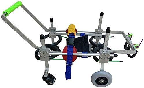 AYHa Carros para perros, adecuados para mascotas para practicar y caminar Discapacidad física, perros pequeños grandes, ajustables, 4 ruedas-2 ruedas-Umr y Uu,* S (ampliación)