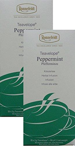 Ronnefeldt-Teavelope -2er Pack- Peppermint/Pfefferminze - Kräutertee - 2x25x2g Teebtl.