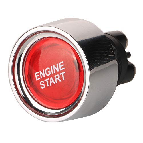 Gebildet 12V-24V 50A 3pins Universal Interruptor de Arranque de Motor LED Lluminado,SPST Interruptor Momentáneo para Vehículos