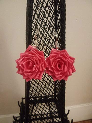 Rose Drop Earrings (colors may vary)