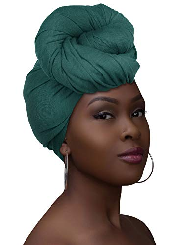 Head Wraps for Black Women with Natural Hair Turbans Jersey Hijab Knit Headwraps African Silk Hair Wrap