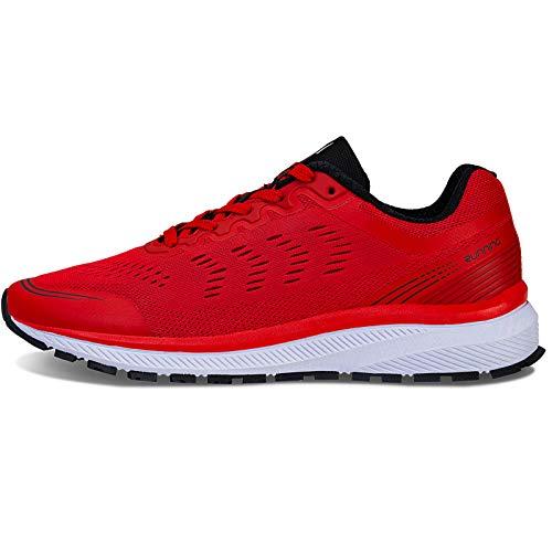 IceUnicorn Fitnessschuhe Herren Damen Laufschuhe Straßenlaufschuhe Turnschuhe Sportschuhe(K3Schwarz Rot,43EU)