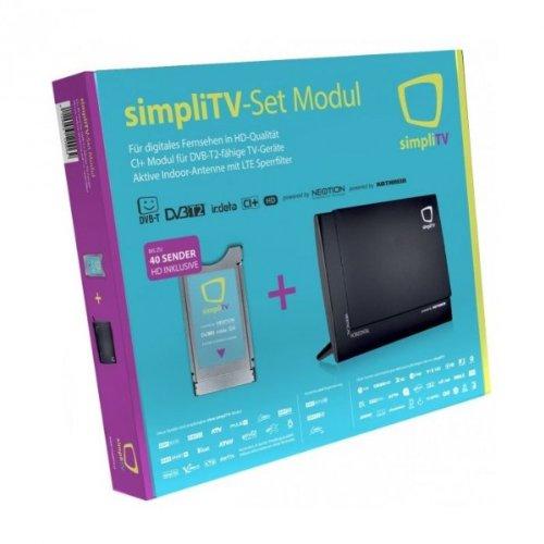 SimpliTV Set Cardless Irdeto Modul für DVB-T2 + Kathrein simpliTV Antenne